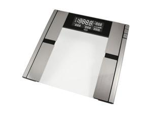 AWS Body Fat and Water Scale - 330.00 lb / 150 kg Maximum Weight Capacity - Glass, Metal