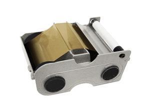 Fargo 45107 Ribbon Cartridge - Metallic Gold - Thermal Transfer, Dye Sublimation - 1000 Page