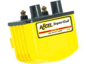 Accel 140408 Yellow Single-Fire HEI Super Coils w/ Electronic Ignition (3 ohm) for Harley-Davidson by ACCEL
