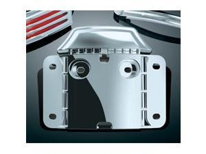 Kuryakyn 3146 Chrome CURVED LICENSE PLATE Mounting Backplate (ea) for Harley-Davidson ¦£??09 FLTRSE CVO Road Glides ¦£??10-¦£??12 FLHXSE CVO Street Glides & 12 FLTRXSE by KURYAKYN