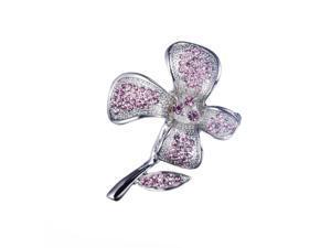 Loches Lynn Pink Flower Fashion Brooch Pendant STELLUX Elements AUSTRIAN CRYSTALS (B-10505G)