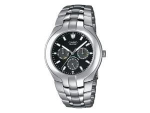 Casio Men Edifice Stainless Steel Multifunction Dial Stainless Steel Watch