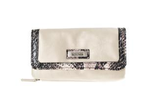 Kenneth Cole Reaction Womens  Flap Clutch Wallet, Cream