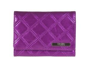 Kenneth Cole Reaction Womens Quilted Indexer Wallet, Amethyst