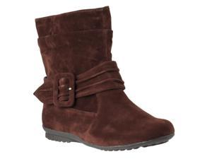 Bamboo Womens Herbie Faux Suede Mid-calf Boots, Tobacco Faux Suede, Size 6.5