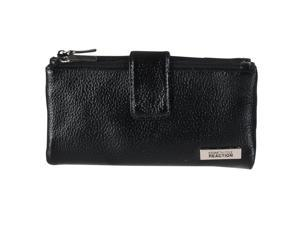 Kenneth Cole Reaction Womens Pebbled Clutch Wallet, Black