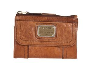 Fossil Womens Emory Leather Multifunction Wallet SL2932, Saddle