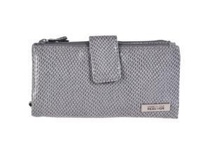 Kenneth Cole Reaction Womens Bi-fold Clutch Wallet, Gray