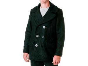 JORDAN CRAIG Men's Wool Blend Peacoat, Black, Size X-Large