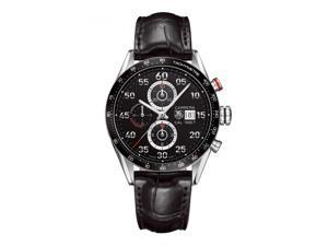 Tag Heuer Men's Carrera Calibre 1887 Black Leather Strap Chronograph Watch