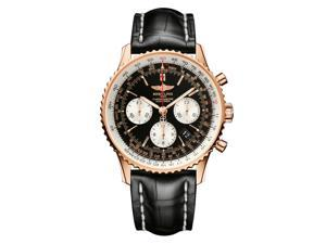 Breitling Men's Navitimer 01 18k Gold & Croc Chronograph Watch
