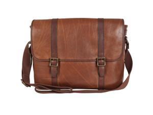 Fossil Estate Leather Messenger Bag, Cognac
