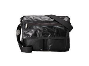 Fossil Transit E/W Leather Messanger Bag, Black