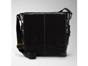 Fossil Jackson Natural Leather Messenger Bag MBG1155, Black