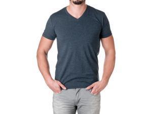 Next Level Apparel Men's Premium Cotton Blend V-Neck Shirt, Midnight Navy, Size Small