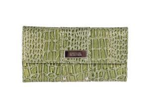 Kenneth Cole Reaction Womens Glossy Tri-fold Clutch, Green