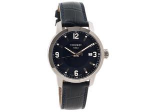 Tissot PRC 200 Quartz Blue Dial Blue Leather Sport Mens Watch T0554101604700