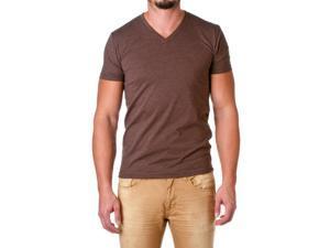 Next Level Apparel Men's Premium Cotton Blend V-Neck Shirt, Espresso, Size Small