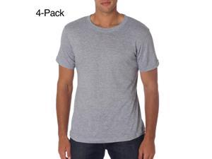 Hanes Men's ComfortSoft Dyed Tagless Crewneck Undershirt 4-Pack, Heather Grey, Size Large