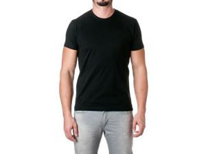 Next Level Mens Premium Fitted Short-Sleeve Crew, Dark Black, Size Large