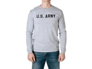 U.S. Army Men's Officially Licensed Long Sleeve T-Shirt, Heather Gray, Size Medium