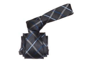 Republic Mens Striped Woven Microfiber Neck Tie, Gray, Size One Size