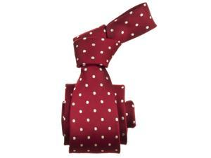 Republic Mens Dotted Micro-Fiber Tie, Red