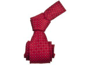 Republic Mens Patterened Woven Microfiber Neck Tie, Red, Size One Size