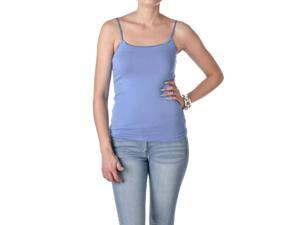 Active Basic Womens Spaghetti Strap Tank Top Camisole, Sky Blue, Size Medium