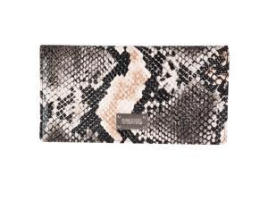 Kenneth Cole Reaction Womens Faux Python Slim Clutch, Natural