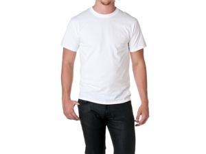 Fruit of the Loom Men's 5.4 oz. Cotton T-Shirt, White, Size Large