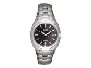 Citizen Mens Eco-Drive Silver Titanium Analog Quartz Watch BM6560-54H