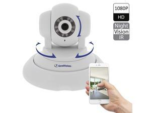 GeoVision GV-PT220D 2MP(1080P) High Defination Pan Tilt IP Camera, 2-Way Audio, with  50 m (50ft) IR Range Night Vision, Built-In Micro SD Card Slot, Plug and Play, Remote View on Smartphone/Tablet