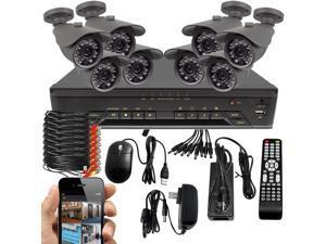 BV Tech SK-1016EPRO-IR50HS-8 700TVL Bullet Camera Security System(16 Channel 960H DVR w/ 1TB HDD)