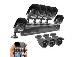 Best Vision 16-Channel D1 DVR Security System with 8 x 800TVL Outdoor Weatherproof Bullet Cameras, 65ft IR Night Vision, 1TB Hard Drive Installed, Remote View on Smartphone