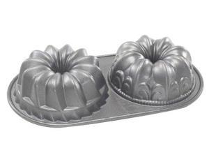 Nordic Ware 84024 Platinum Bundt Duet Pan