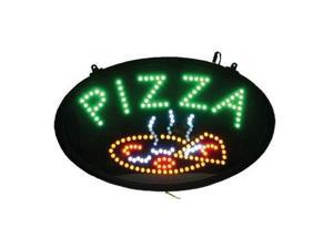 Winco LED Neon Pizza Sign with Dust-Proof Cover, 22.75 inch Length -- 1 each.
