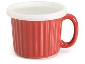 Good Cook Ceramic 16 Ounce Soup Dish, Red