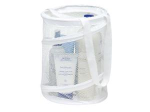 Honey Can Do HMP-01138 8 in. X 8 in. X 12 in. White Mesh Pop Open Shower Caddy