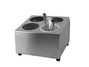 Winco 4 Hole Flatware Cylinder Holder, 2 Tiers