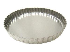 Fluted Tart/Quiche Pan with Removable Bottom - 8 Inch Diameter
