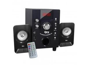 QFX BT-202 2.1 Channel NFC Bluetooth Speaker System with USB/SD Port (Black)
