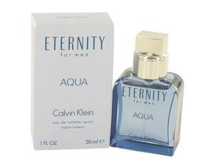 Eternity Aqua by Calvin Klein Eau De Toilette Spray 1 oz