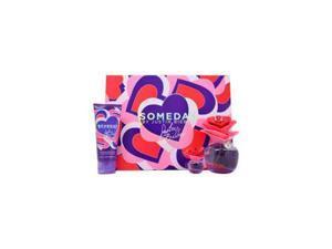 Someday By Justin Bieber - 3 pc Gift Set For Women 3.4oz EDP Spray| 3.4oz Touchable Body Lotion| 0.25oz Parfum Mini