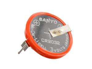 Sanyo CR2032-P5-1 3V Lithium Battery 2-Pin Horizontal 20mm Spread  FAST USA SHIP