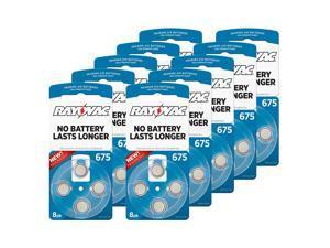 Hearing Aid Battery L675ZA-8ZM/80 Rayovac 80pk, Size 675, Mercury Free