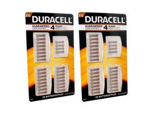 56pc Duracell Zinc Air Hearing Aid Battery Size 312 FRESH DATE CODE USA SHIP