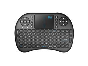 Rii i8 Mini Bluetooth Wireless Touchpad Keyboard with Mouse (Black)