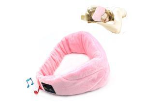 Wireless Bluetooth 4.1 Stereo Sleeping Headphone Wear Eye Mask Pink Color Phone Call Answer