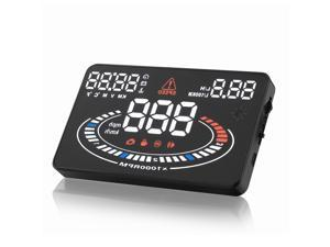 5.5 inch big screen E300 HUD head up display multi-color screen compatible with OBDII or EU OBD multi-functon display